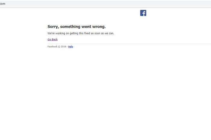 Lama Facebook eror.