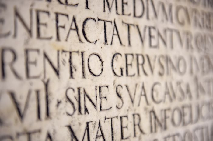 Ancient Latin Inscription.
