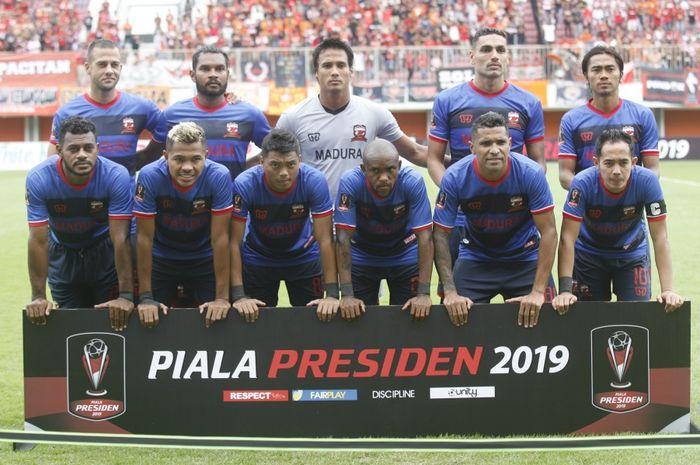 Skuat Madura United di Piala Presiden 2019.