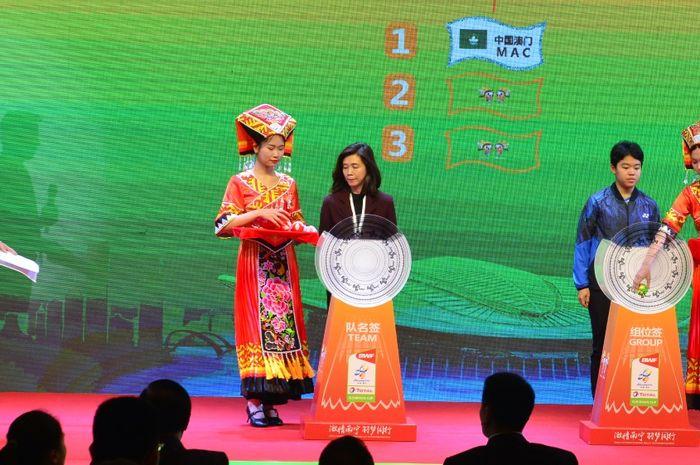Proses pengundian atau drawing Sudirman Cup 2019 yang digelar di Nanning, China, pada hari ini, Selasa (19/3/2019)