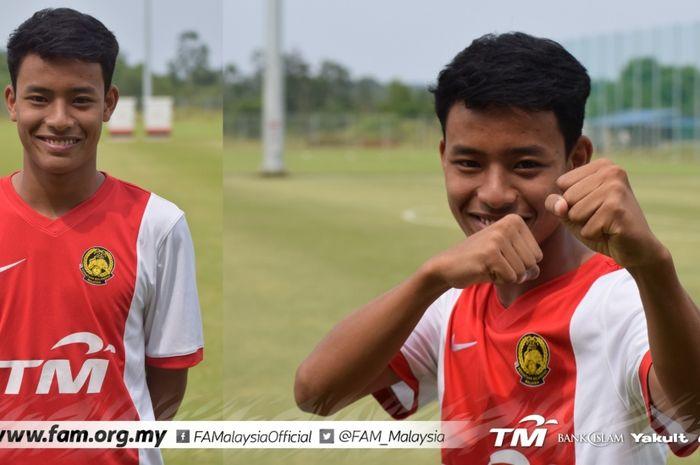 Penyerang timnas U-19 Malaysia, Luqman Hakim Shamsudin.