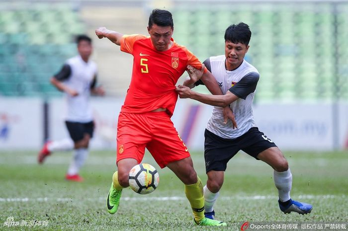 Laga timnas U-23 China vs Laos pada kualifikasi Piala Asia U-23 2020 di Shah Alam Stadium, 22 Maret 2019.
