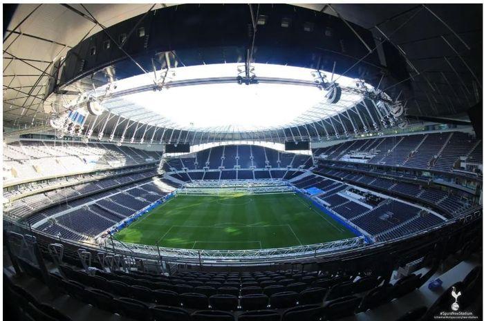 Interior stadion baru Tottenham Hotspur.