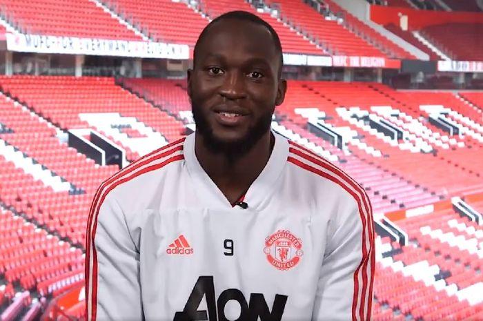 Striker Manchester United, Romelu Lukaku.