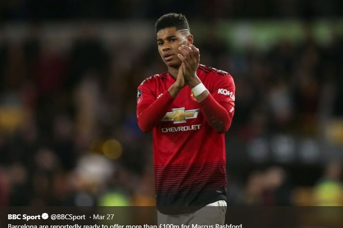 Striker muda Manchester United, Marcus Rashford