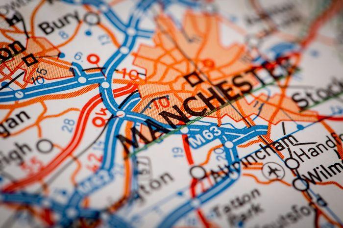Peta Kota Manchester.
