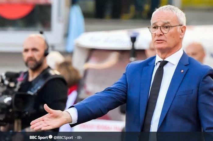 Pelatih AS Roma, Claudio Ranieri.