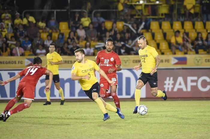 Pertandingan laga ketiga Grup G Piala AFC 2019 antara Persija Jakarta Vs Ceres Negros di Stadion Panaad, Filipina, Rabu (3/4/2019).