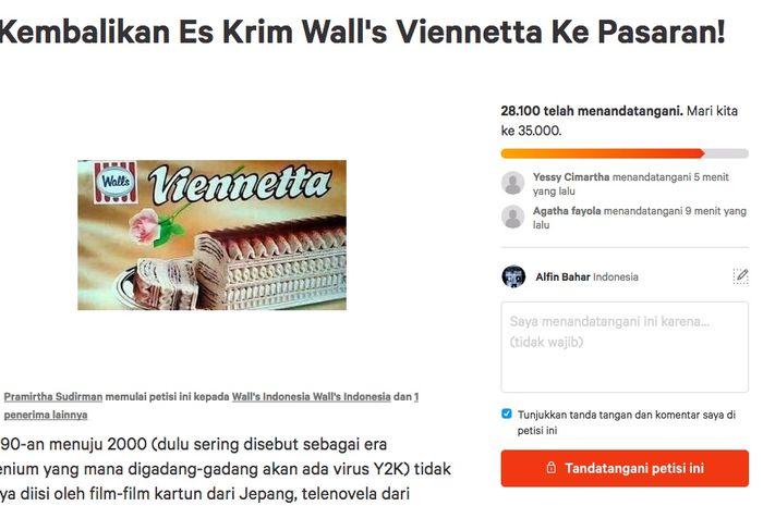 Tuntut Es Krim Viennetta Diproduksi Ulang Netizen Bikin Petisi