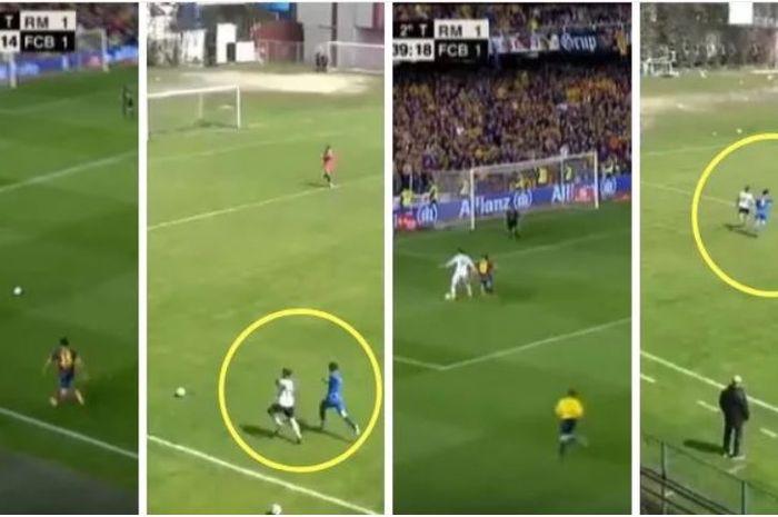 Pemain Besiktas U-17 berhasil mencetak gol ala Gareth Bale di Final Copa del Rey 2014