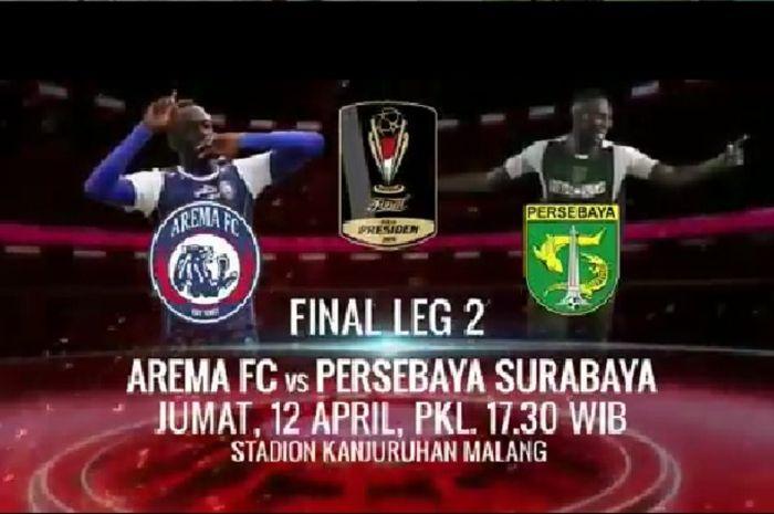 Final leg dua Piala Presiden 2019 antara Arema FC Vs Persebaya Surabaya, Jumat (12/4/2019) di Stadion Kanjuruhan, Malang.