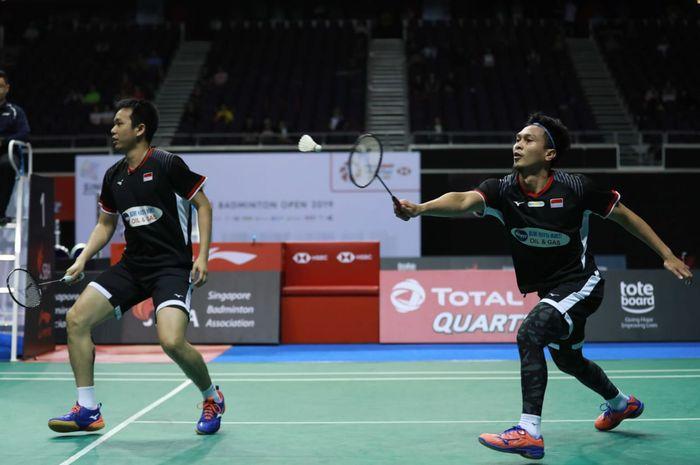 Hasil Final Singapore Open 2019 - Ahsan/Hendra Gagal Pertahankan Gelar - Bolasport.com