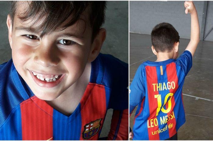 Thiago Torres, mantan penderita stroke yang kini memperkuat tim akademi Barcelona.