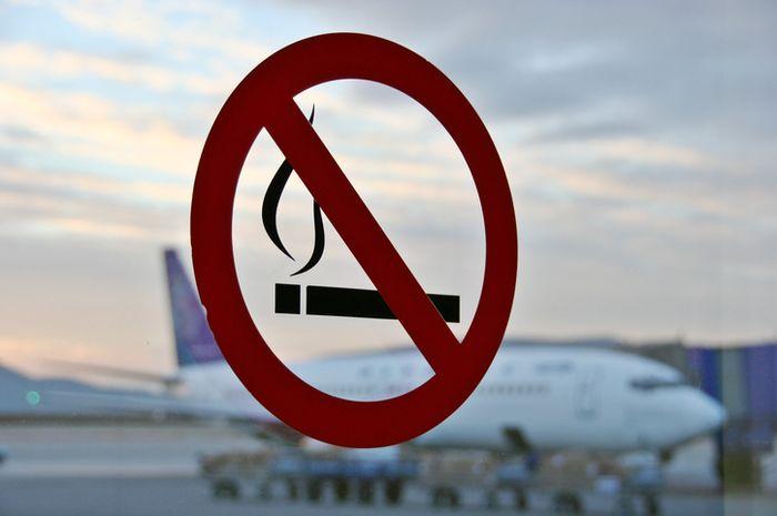 Larangan merokok di kawasan Bandara.