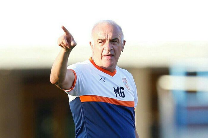 Borneo FC coach Roberto Carlos Mario Gomez repeated training for Borneo FC in preparation for Persib Bandung in the final eight games of the 2018 Indonesian Cup.