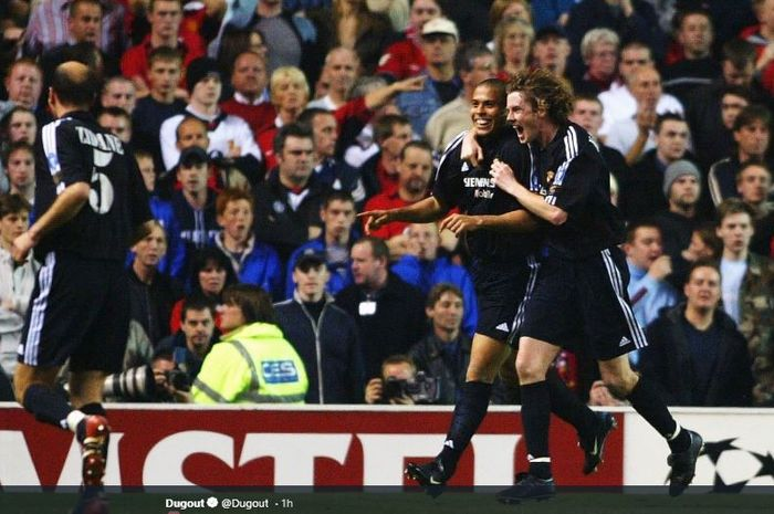 Ronaldo Luis Nazario de Lima mencetak hat-trick dalam laga leg kedua perempat final Liga Champions 2002-03 melawan Manchester United di Stadion Old Trafford, 23 April 2003.