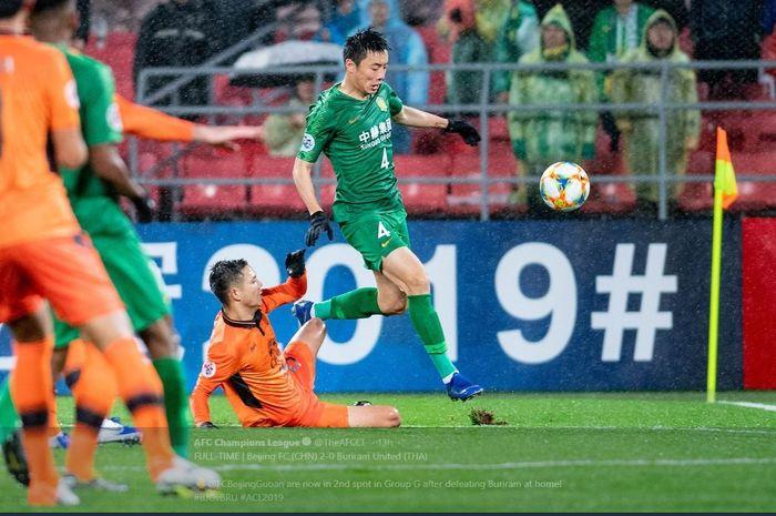Laga Liga Champions Asia antara Beijing Guoan FC vs Buriram United, 24 April 2019.