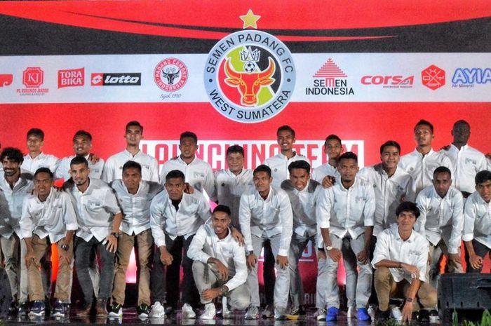 Semen Padang saat launching tim, Sabtu (27/4/2019), di salah satu hotel di Kota Padang.