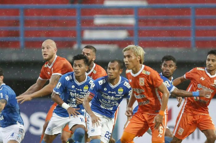 Laga Borneo FC vs Persib Bandung di leg pertama babak 8 besar Piala Indonesia 2018.