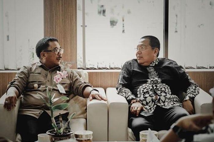 Walikota Balikpapan, Rizal Effendi, bersama Gede Widiade