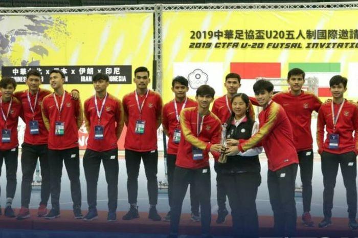 Timnas Futsal Indonesia U-20 menjadi runner-up dalam ajang CTFA U-20 Futsal Invitation 2019 di Taiwan.