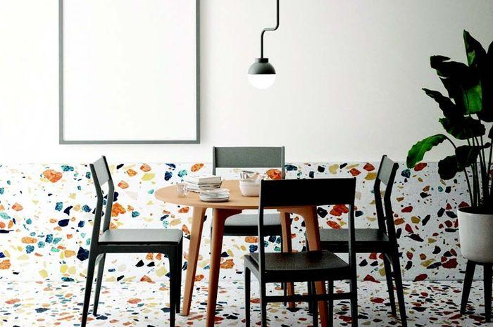 Kombinasi Warna Cat Dinding Dan Keramik pesona teraso di lantai cat dekoratif ini juga punya motif