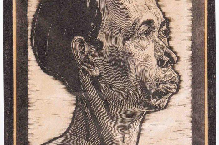Seni cukil kayu karya Joris Johannes Christiaan Lebeau, 1919.