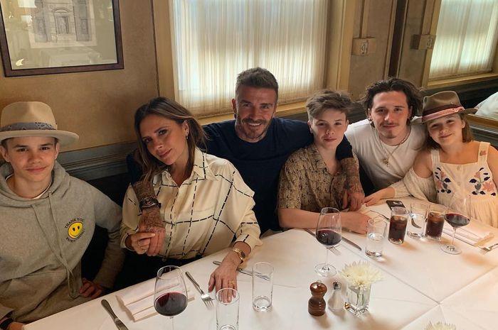 Suasana makan malam David Beckham.