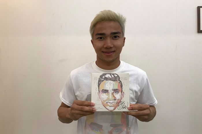 Pemain tengah impor klub Liga Jepang 1, Consadole Sapporo asal Thailand, Chanathip Songkrasin.