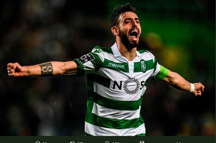 Gelandang Sporting CP, Bruno Fernandes.