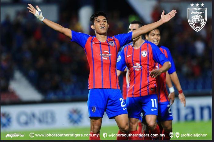 Johor Darul Takzim mengalahkan Kashima Antlers di Liga Champions Asia, 8 Mei 2019.