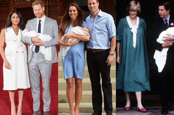 Bandingkan para wanita kerajaan inggris ini ketika mengenalkan buah hati mereka.