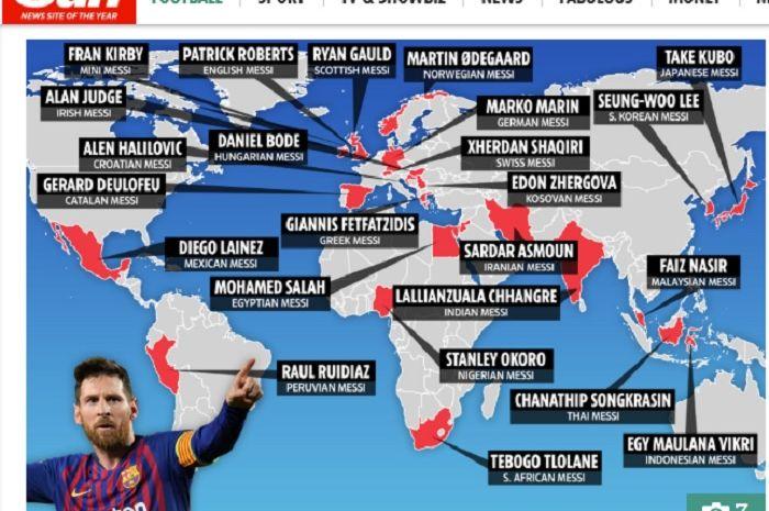 Termasuk Egy Maulana Vikri,  daftar 'Lionel Messi' seluruh penjuru dunia yang dikatikan dengan Manchester United.