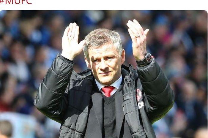 Pelatih Manchester United, Ole Gunnar Solskjaer.