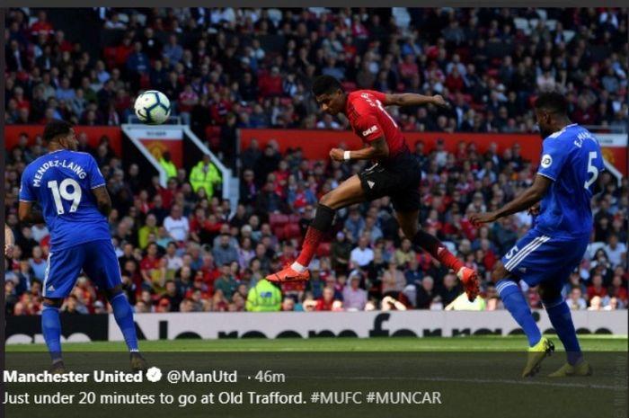 Laga Manchester United versus Cardiff City di Old Trafford, Minggu (12/5/2019).