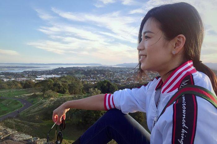 Pebulu tangkis ganda campuran Malaysia, Goh Liu Ying, mengisi waktu liburan tidak mengikuti turnamen.