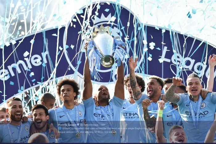 Manchester City juara Liga Inggris 2018-2019.