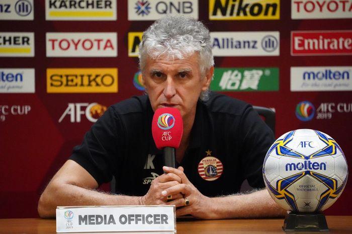 Pelatih Persija Jakarta, Ivan Kolev, memberikan komentar jelang laga melawan Shan United