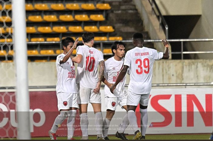 PSM Makassar menang atas Lao Toyota FC dalam partai terakhir fase grup Piala AFC 2019.