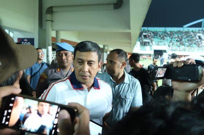 Kapolda DIY Brigjen Pol Ahmad Dofiri, saat dimintai keterangan terkait kerusuhan di Stadion Maguwoharjo, Rabu (15/5/2019).