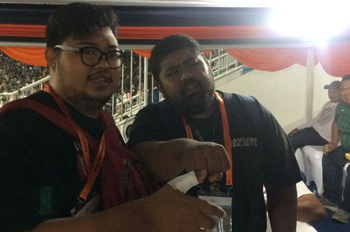 Wartawan asal Jakarta, Hadi, ikut menderita luka akibat kerusuhan dalam laga PSS kontra Arema FC dalam partai pertama Liga 1 2019, Rabu (15/5/2019) di Yogyakarta.
