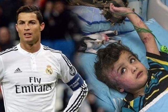 Cristiano Ronaldo dikabarkan menyumbang 1,5 juta dolar AS untuk Palestina.
