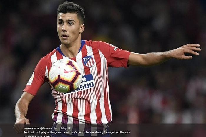 Gelandang milik Atletico Madrid, Rodrigo