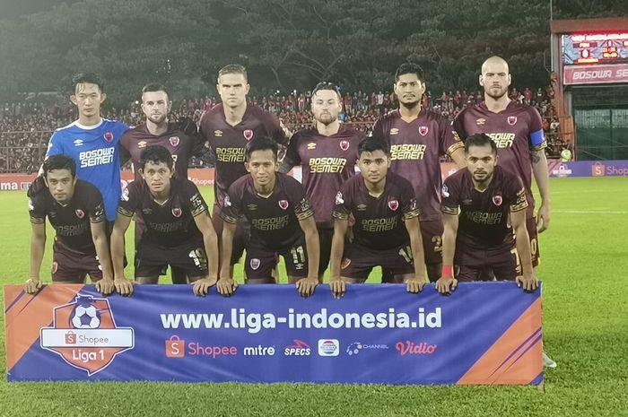 Starting XI PSM Makassar  saat menjamu Semen Padang di Liga 1 2019 pekan pertama, Senin (20/5/2019).