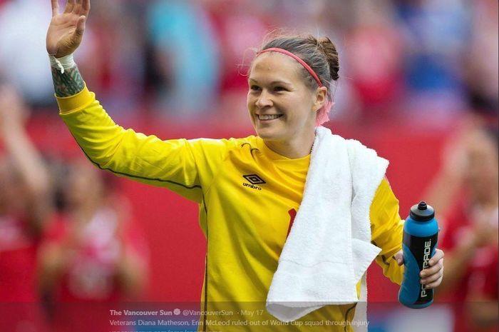 Mantan kiper timnas putri Kanada, Erin McLeod.