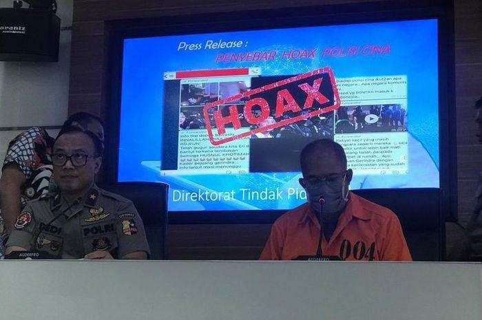ilustrasi: Pelaku penyebar hoaks anggota Brimob dari China