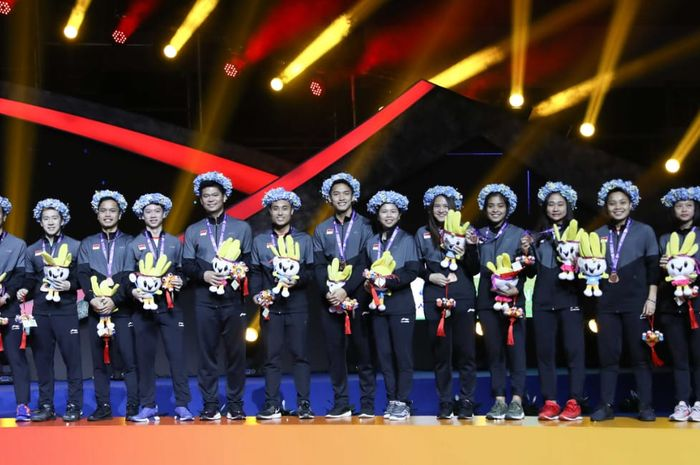 Skuat Indonesia pada Piala Sudirman 2019.