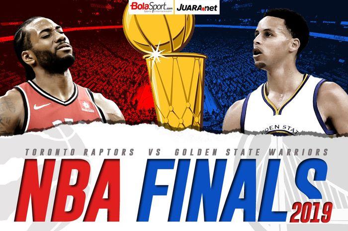 NBA Finals 2019 mempertemukan Toronto Raptors kontra Golden State Warriors