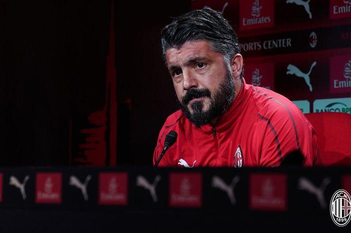 Pelatih AC Milan, Gennaro Gattuso.