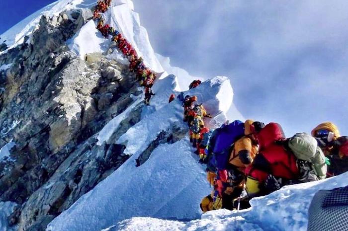 Kepadatan di Gunung Everest.